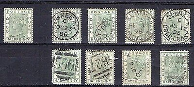 Gold Coast SG11 mint and used stamps
