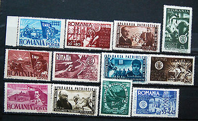 A Great Collection of Different Unmounted Mint Romanian Commemorative Stamps.