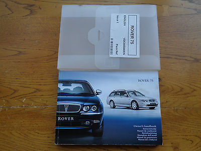 Rover 75 Owners Handbook/Manual and Wallet 99-04