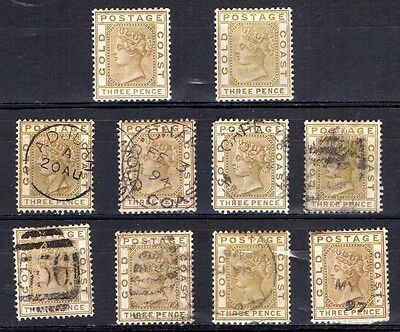 Gold Coast SG15 mint and used stamps