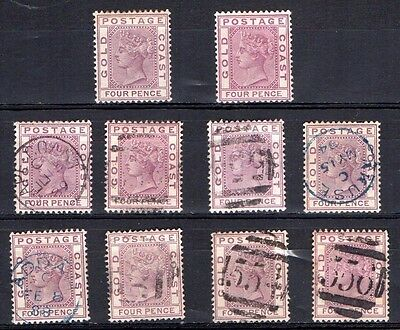 Gold Coast SG16 mint and used stamps