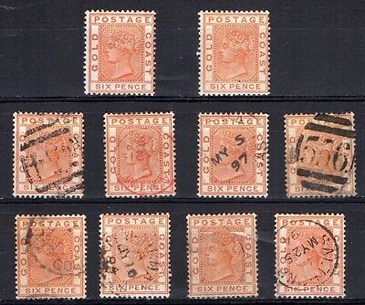 Gold Coast SG17 mint and used stamps