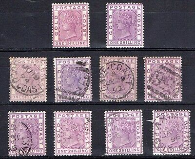 Gold Coast SG18 mint and used stamps