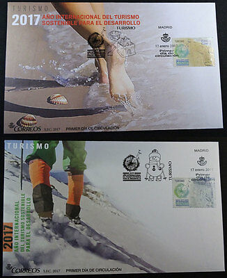 2017 Fdc Tourism Sustainable Beach And Mountain 2 Fdc Edifil 5114/15 Spd Tc20214