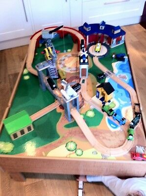 Huge collection of Thomas the Tank Engine wooden track and trains with table