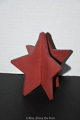 Longaberger Red Woodcrafts Star - 2 Pieces New