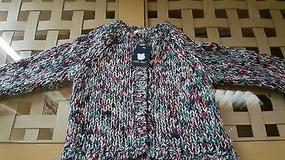 girls chunky knit cardigan age 18/24 months