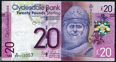 SCOTLAND Clydesdale Bank £20 2009 1st DATE REPLACEMENT E/ZZ