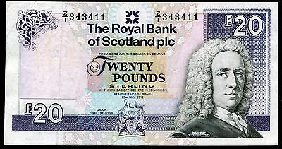 SCOTLAND   Royal Bank   £20  2012  LAST DATE  of HESTER   REPLACEMENT   Z/ 1