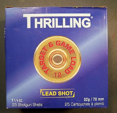 Empty Thrilling  1 Pc. 12 ga. Shot Shell Box.