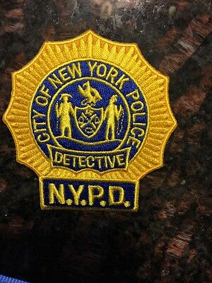Police Patch for Collection and Historical Memorabilia - Detective Patch New