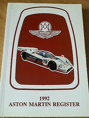 Aston Martin Register 1992 Lovely Black and white photos of models up to 1992