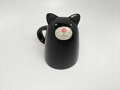"Ceramic ""Upside Down"" CAT Mug -NEW NO BOX"