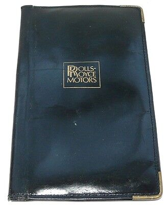 Rolls-Royce Motors, (Logo stamped), Soft leather (Diary?) WALLET from 1995. #078