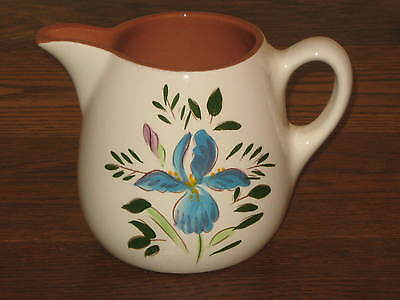 "Beautiful Vintage STANGL Pottery Country Garden Iris Pitcher 5"" MINT!"