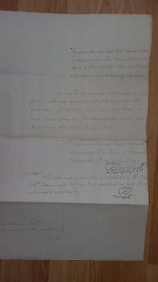 ADMIRAL / Naval / Navy ( Battle of St Vincent ) / Nelson - Signed Document 1787
