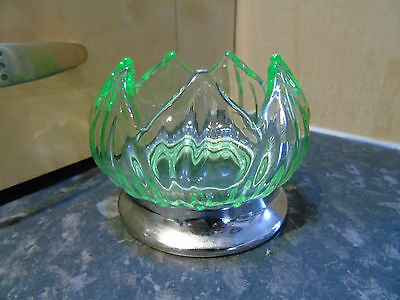 Bagley Green art deco bowl with metal stand