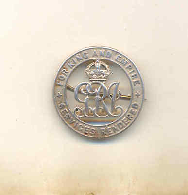 Silver War - Wound Badge  Number 109531 Unresearched
