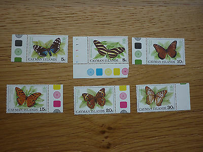 QEII Cayman Island 1977 Butterfly stamp set