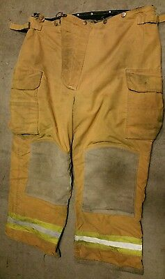 40x30 Lion Apparel Pants FIREFIGHTER TURNOUT Bunker Gear Nomex Liner #28