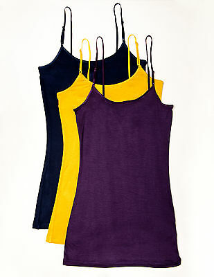 Zenana Outfitters 3 Pack Rayon & Spandex Camisole Tops with Adjustable Straps