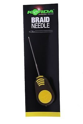 Korda NEW Fishing Braided Hair Needle Yellow 7cm - KBNB