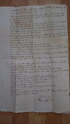 ADMIRAL JOHN HOLLOWAY - Naval ( Nelson ) Napoleonic Wars - Signed Document 1797