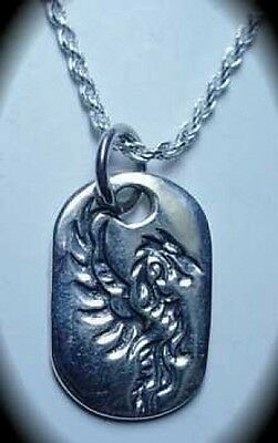 LOOK Fire Dragon Fire flame Celtic Authentic Sterling Silver pendant Charm Jewel