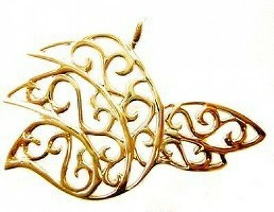 LOOK Gold Plated Celtic Dove Bird Filagree Design Charm