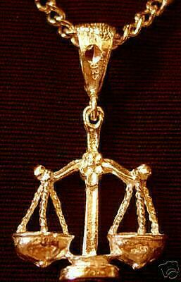 LOOK Gold Plated Libra scales Silver Zodiac Charm Celtic
