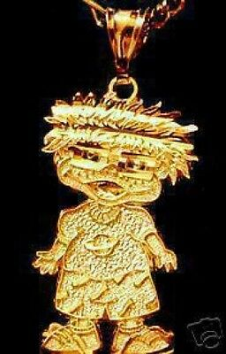 LOOK Gold Plated Rugrats Chuckie Jewelry Pendant Charm Baby