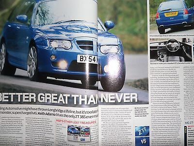 "MG ZT-T 385 Supercharged 2006 ""Autocar"" Road Test Magazine"