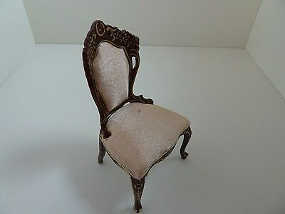 Dolls House Miniature 1:12 Scale Dining Furniture Mahogany Dining Chair REDUCED