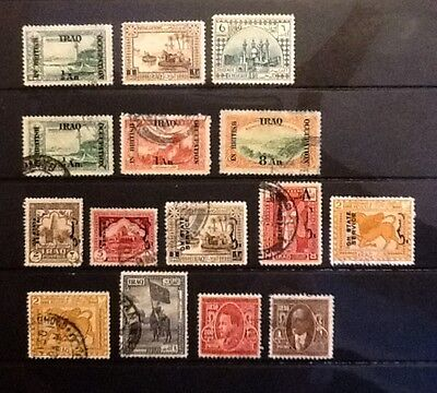 IRAQ interesting earlier MH & Used group - 15 stamps