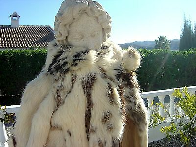 Rare 1960s vintage girls fur coat - rabbit fur ..or for a very small person..xxx