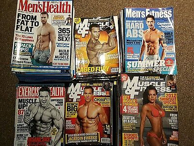 90 fitness magazines (Muscle & Fitness, Men's Health, Men's Fitness + others)