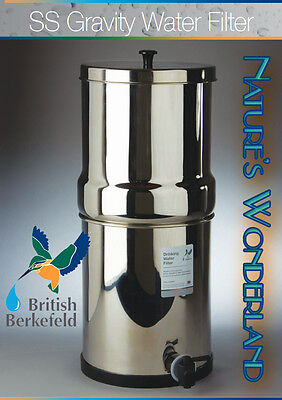 Stainless Steel 'BERKEY' Gravity Water Filter System- BRITISH BERKEFELD® Doulton