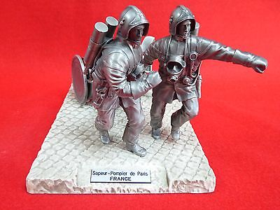 "French ""pompiers Du Monde"" - Very Detailed Pewter Sculpture - 6"" Approx"