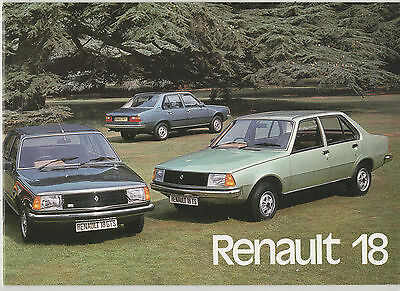 """ Renault 18  ""  Original 1978 - 79   Sales  Brochure ."