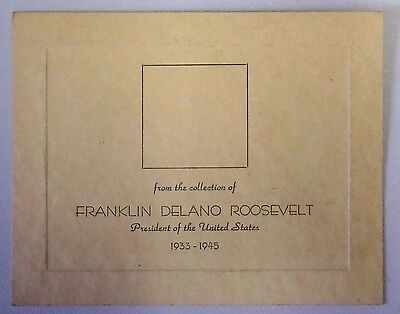 FROM THE COLLECTION OF FRANKLIN DELANO ROOSEVELT Stamp Coin Mnt Postcard 1125B
