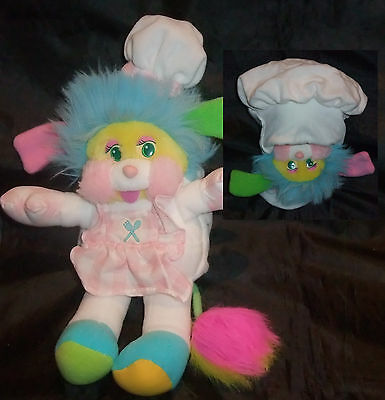 Peluche Collection Vintage Popples Carnaval Cuisiniére Chef Années 80 Rare