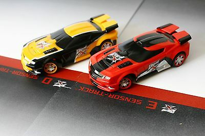 Real FX Slotless Racing Cars - Hot Red & Flame Yellow Cars - Brand New