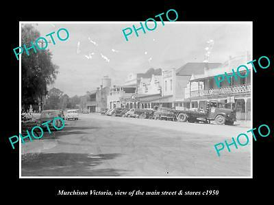 OLD LARGE HISTORIC PHOTO OF MURCHISON VICTORIA, THE MAIN St & STORES c1950