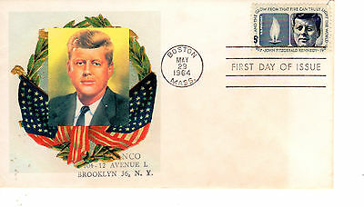 5-cent JFK John Kennedy FDC First Day 1246 May 29, 1964