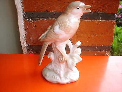 Beautiful Porcelain Garden Bird Figurine (V.g.c)