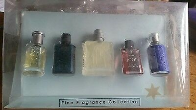 Vintage Set Of 5 Miniature Designer Fragrances For Men