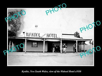 OLD LARGE HISTORIC PHOTO OF KYALITE NSW, VIEW OF THE WAKOOL HOTEL c1930