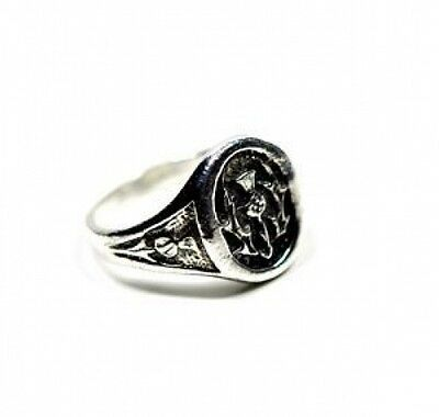 LOOK New Scottish Celtic Thistle Ring Sterling silver 925