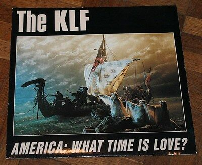 """THE KLF * AMERICA : WHAT TIME IS LOVE? * Classic House Electronic Dance 7"""" Vinyl"""