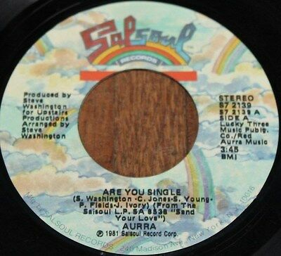 "AURRA * ARE YOU SINGLE * Classic Soul Funk Boogie 7"" Vinyl"